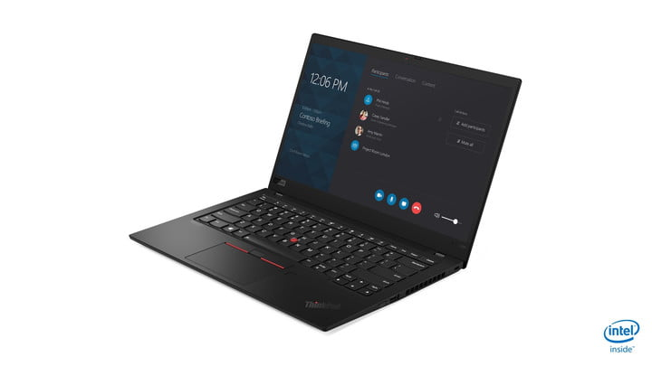 lenovo updated thinkpad x1 carbon yoga ces 2019 04 hero front facing left