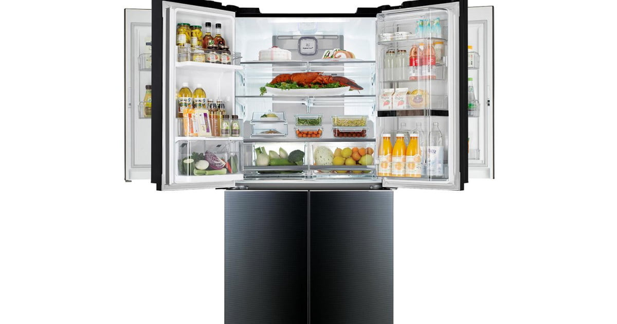lg unveils mega capacity door in door fridge digital trends. Black Bedroom Furniture Sets. Home Design Ideas