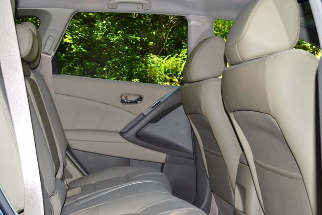 2012 nissan murano sl awd crossover review interior back seats