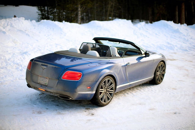 2014 Bentley Continental GT Speed blue back angle