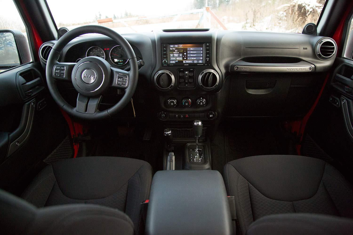 2017 Jeep Wrangler Unlimited Sport Interior Front Rear View