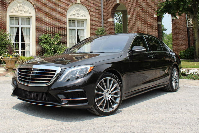 2015 Mercedes Benz S550 side front angle