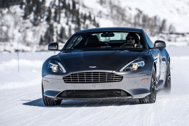 2016 aston martin on ice first drive 32 am track