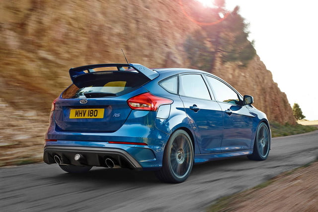 2016 Ford Focus RS press rear angle