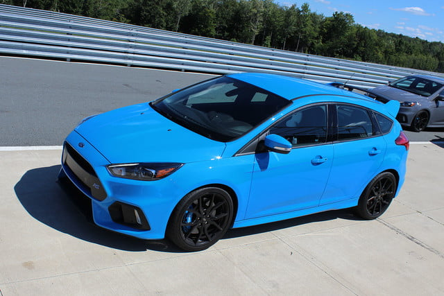 2016 ford focus rs first drive top angle