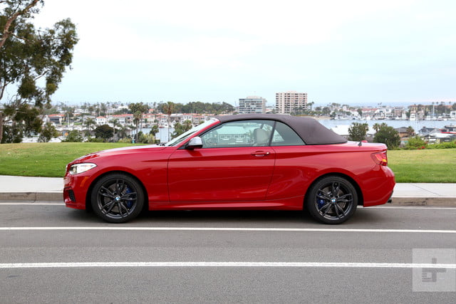 2017 BMW M240i Review left side roof up