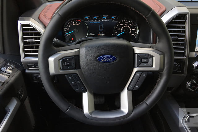 2018 Ford F 150 review steering wheel