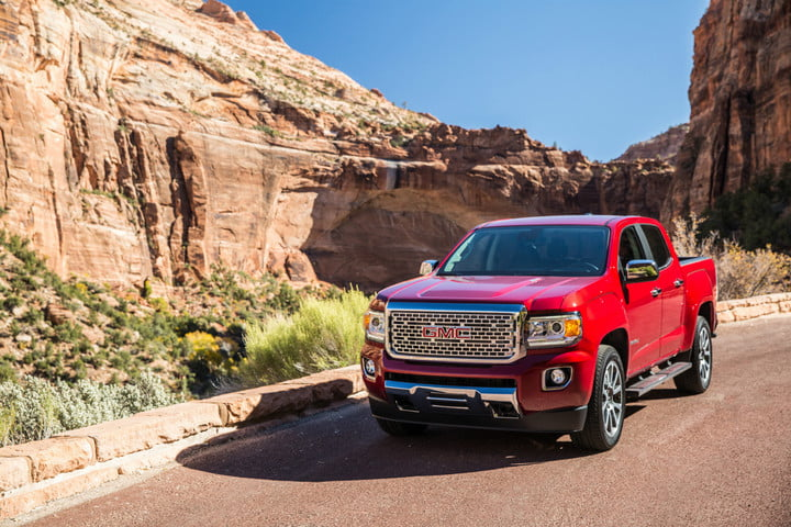 2018 gmc canyon release date prices specs features digital trends rh digitaltrends com 2018 GMC Canyon Interior GMC Sierra