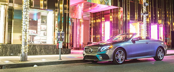 Soak up sun by day and neon by night in Mercedes' eye-catching E400 Cabriolet