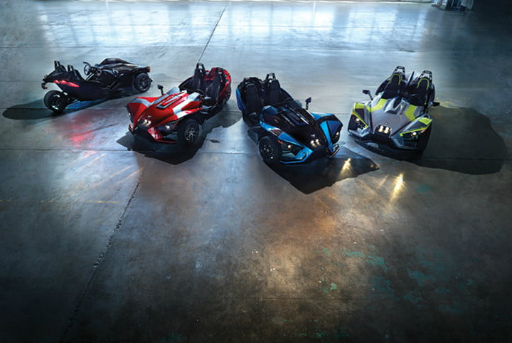 The 2018 Polaris Slingshot lineup