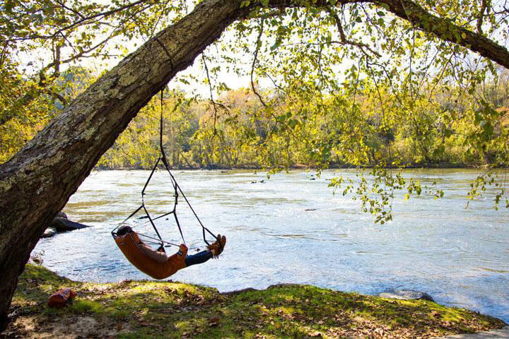 Best Camping Chairs Eno Lounger Hanging Chair Lifestyle