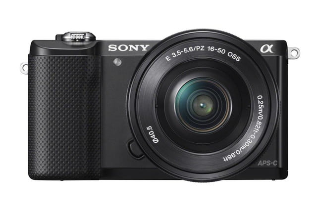 sony alpha a5000 mirrorless interchangeable lens camera photos wselp1650 front black