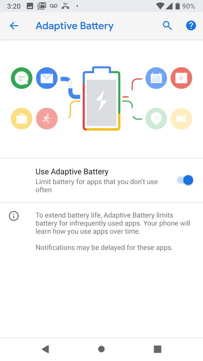 google android p news adaptive battery