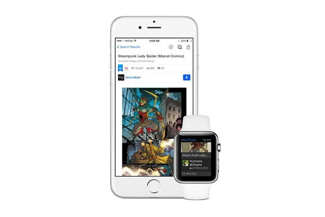 monitor and control your creative portfolio from apple watch with adobes apps adobe behance handover