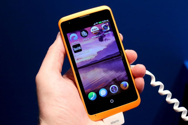 Alcatel OneTouch Fire Firefox OS home angle