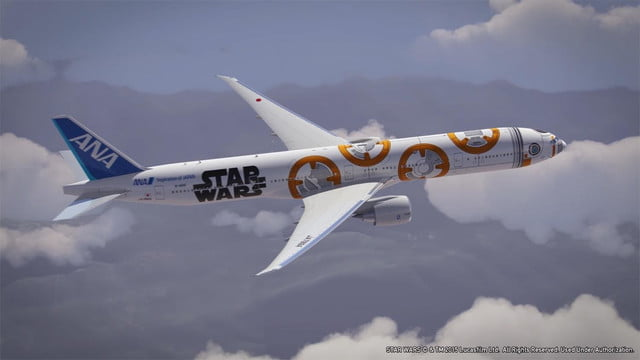 anas r2 d2 jet will be the closest to flying in a star wars spacecraft ana bb8 777 flight