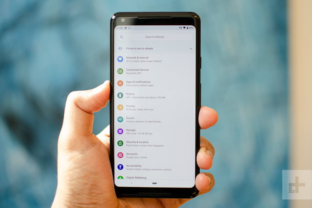 android 9 pie settings
