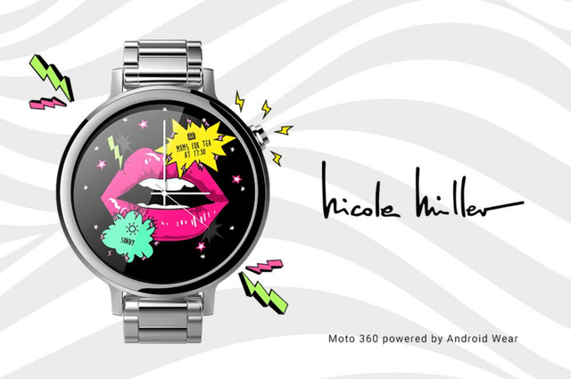 google brand name watch faces android wear nicole miller