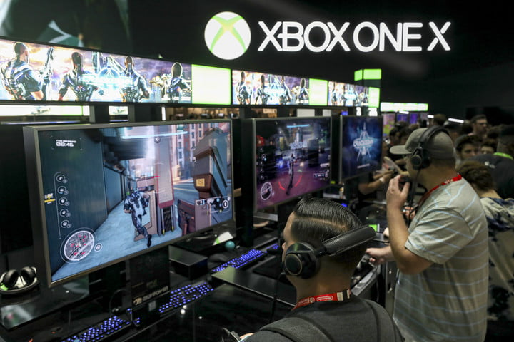 Mike Ybarra interview  Gamers test 'Crackdown' on the XBox One X during the Electronic Entertainment Expo E3 at the Los Angeles Convention Center on June 13, 2017 in Los Angeles, California.