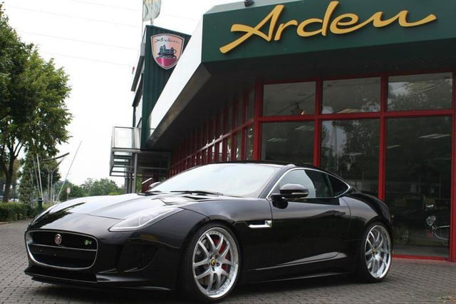 2015 jaguar f type coupe tuned by arden press image angled