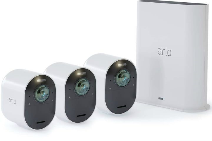 arlo ultra security camera  4k uhd wire free 3 system 750x500