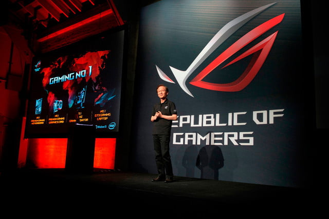 asus republic of gamers unleashed chairman jonney shih reaffirms number one position in gaming industry