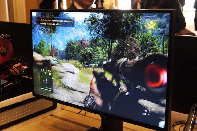 asus shows off their new rog gaming monitors at ces mg279q wqhd front display angle 2