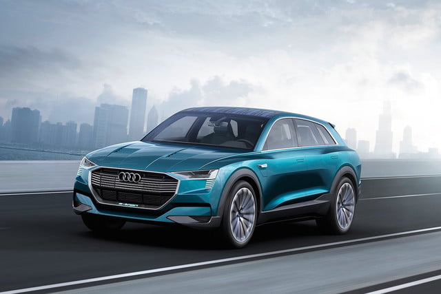 Audi Previews Its 2018 All Electric Sport Crossover With The E Tron Quattro  Concept