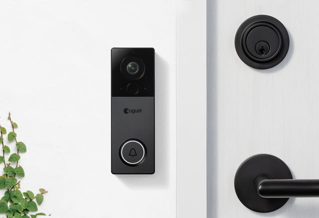 august view video doorbell  white