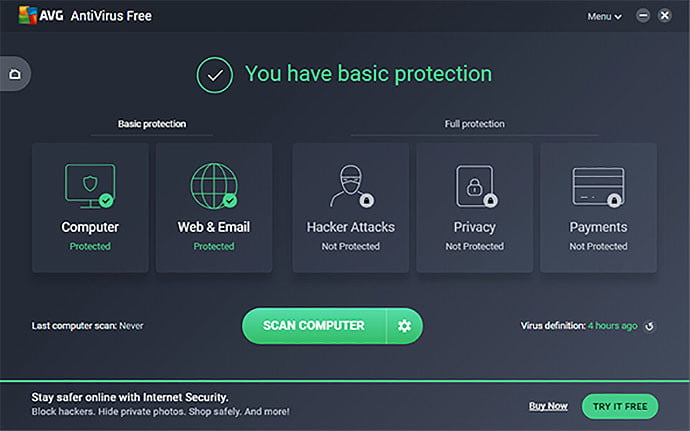 best free antivirus software avgfree