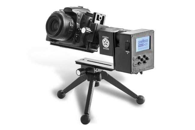 Axis360 motorized tripod system pans, tilts, and slides a