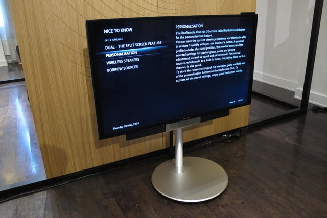 bang olufsens first 4k uhd tv knows right moves beovision avant 1
