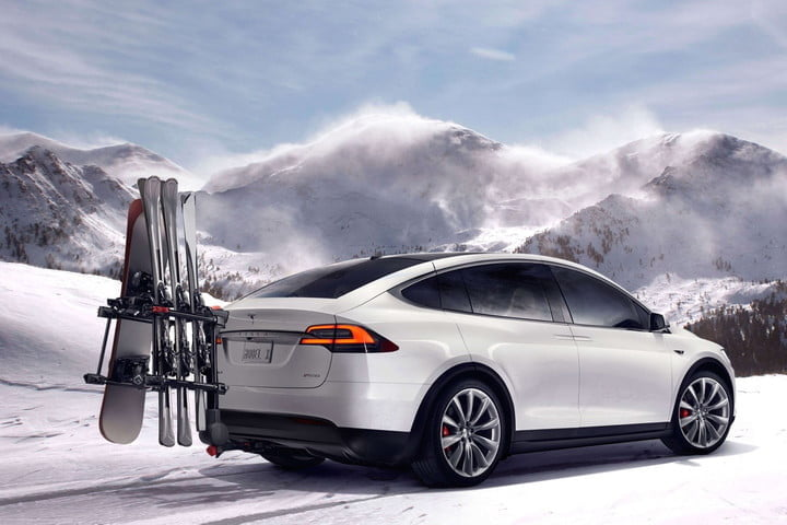 best cars for the snow tesla model x