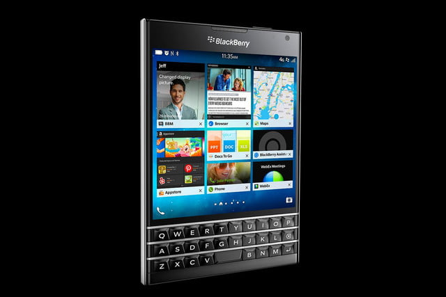 BlackBerry Passport black left angle