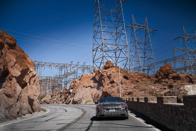 bmws tests its latest 8 series convertibles prototype in death valley bmw convertible testing  1