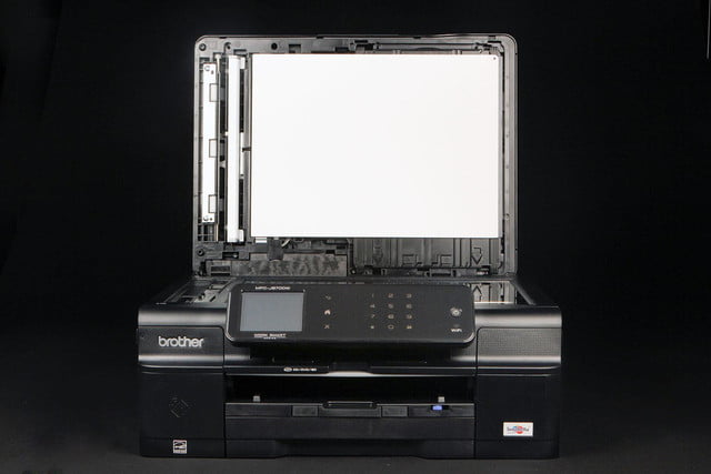 Brother MFC-J870DW front scanner open