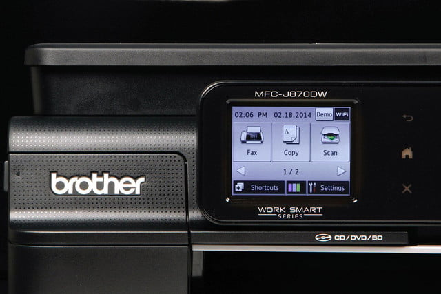 Brother MFC-J870DW front screen settings