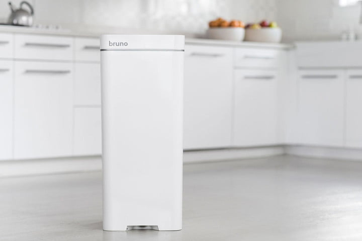 Preferred The Bruno Is a Garbage Can with a Built-In Vacuum | Digital Trends VM69
