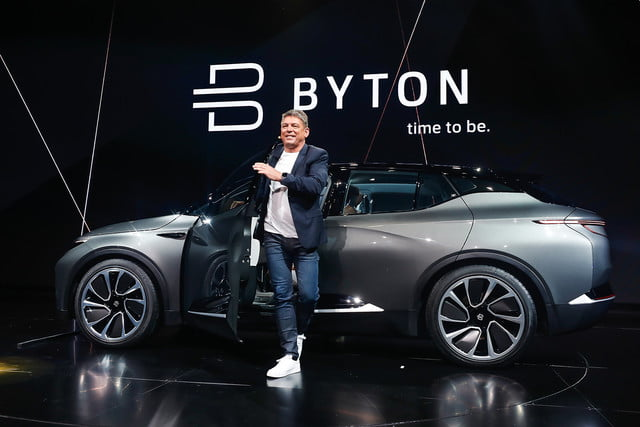 byton concept reveal ces 2018 electric intelligent suv makes global debut at  3
