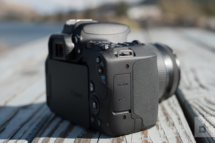 Canon EOS Rebel SL2 review back right