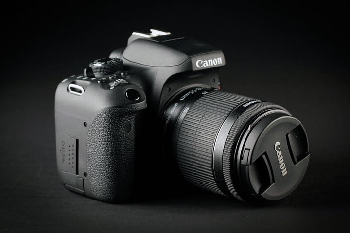 Canon EOS Rebel T6i front left angle