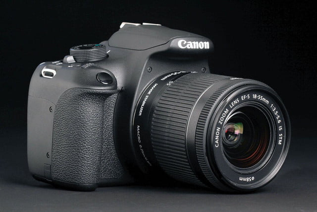 Canon EOS Rebel T5 front left angle