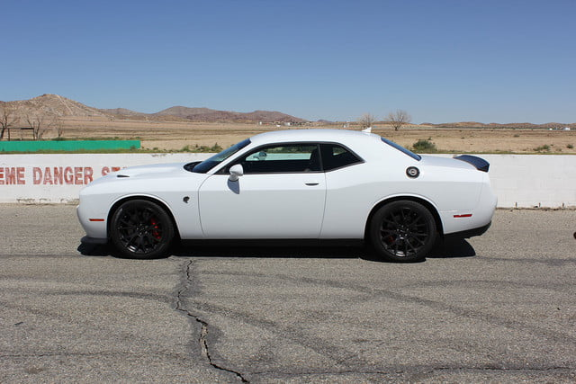 2015 dodge charger challenger srt hellcats track review and hellcat on side white