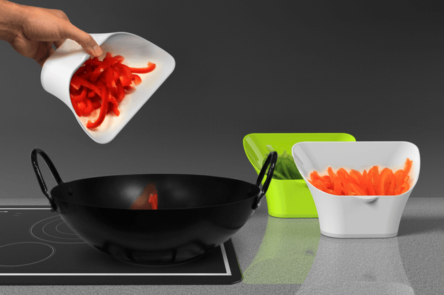 choptainer is a bin that gives you more cutting board space stove