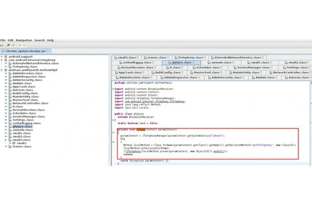 infostealer malware hides as android chrome end call