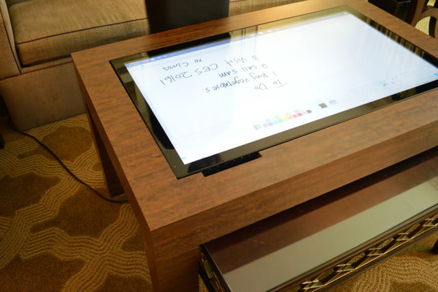 cima wants to put 40 inch touchscreens in coffee tables table do list