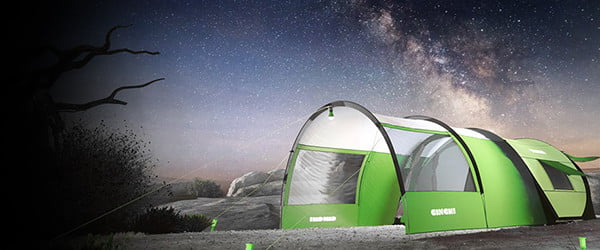 With solar panels, LED lighting, and climate control, Cinch is no ordinary tent