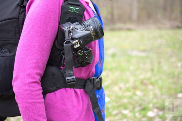 Cotton Carrier StrapShot holds a camera in place