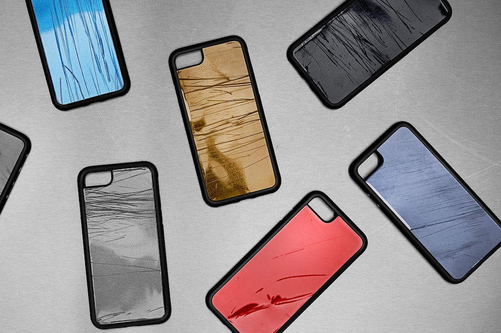 phone case made from crashed cars will stop you texting and driving
