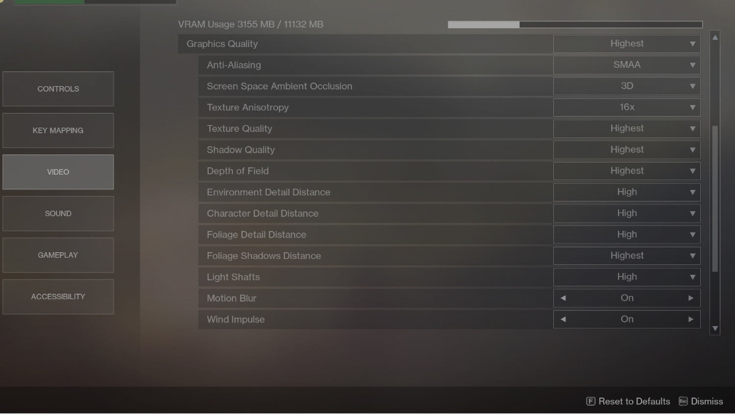 Destiny 2 Pc Performance Guide How To Make The Game Run Better Circuit Wizard Standard Edition Animation Menu Window Of Video Settings